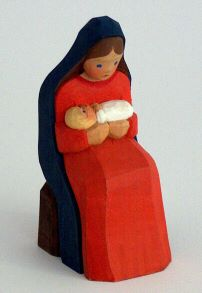 Maria mit Kind sitzend