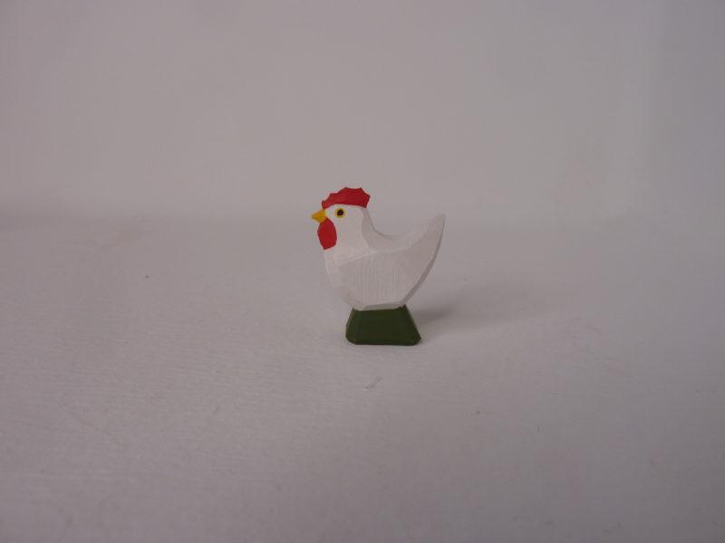 Huhn weiß stehend von Lotte Sievers-Hahn