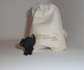 Katze Buckel schwarz von Lotte Sievers-Hahn