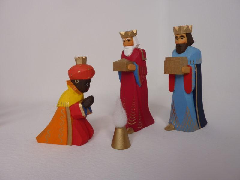 König rot und blau, Mohr orange Lotte Sievers-Hahn