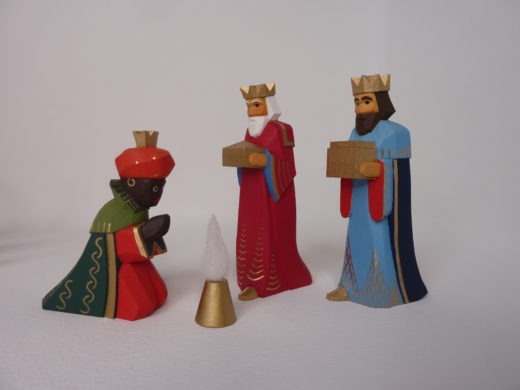 Könige blau rot grün